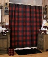 Cabin Style Curtains I Adore This Bathroom For Our Log Cabin Style Basement Wood
