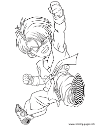 printable dragon ball z coloring pages coloring pages of trunks in dbz coloring home