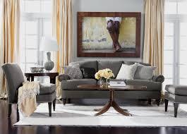 easy elegance living room ethan allen l grey couch l dark floors