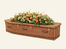 traditional wicker willow coffins