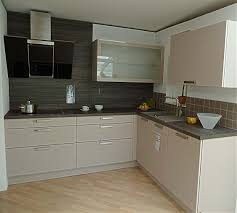 häcker musterküche moderne l küche in kaschmir ohne geräte - L Küche Ohne Geräte