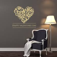 online get cheap valentines day stickers aliexpress com alibaba wall decal hearts wall stickers valentines day design vinyl removable lettering home decor girl bedroom diy