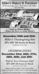 thanksgiving sale miller s bakery furniture
