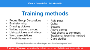 module 3 u2013 being a trainer for impact training of trainers