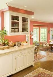 Orange Kitchen Cabinets Color Of The Month August 2015 Cadmium Orange Peach Kitchens