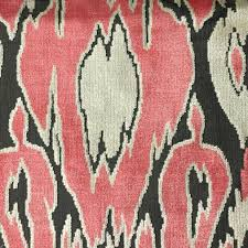 upholstery fabric harrow coral abstract cut velvet home
