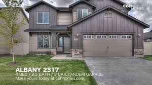 3 Door Garage by Albany 2317 4 Bed 2 5 Bath 3 Car Tandem Garage Youtube