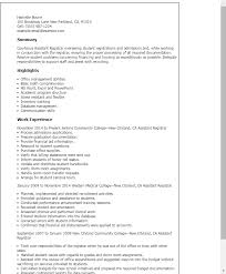 Examples Of Resumes For College Applications by Professional Assistant Registrar Templates To Showcase Your Talent