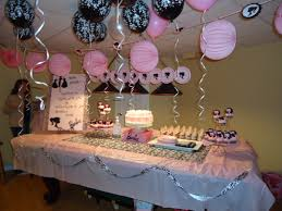 enchanting pink and black birthday party decorations top home