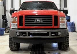 20 In Light Bar Ford Superduty 2008 2010 Bumper Mount Kit Holds 20 Inch Dual Or