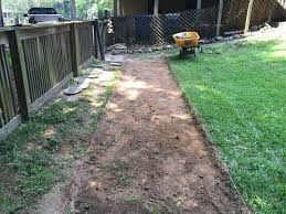 making a garden pathway a lesson learned
