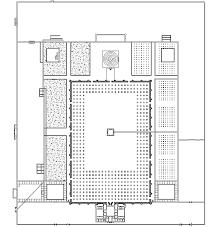 floor plan of mosque the mosque of al mutawakkil