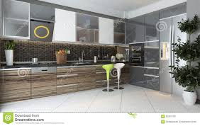 Modern Kitchen Interior Modern Kitchen Interior Design Stock Illustration Image 65267100