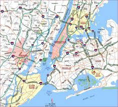 map of nyc highway map of new york city metropolitan area highways