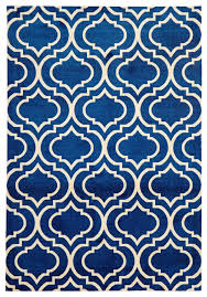 Modern Design Rug Modern Trelliss Design Rug Navy Floorsome