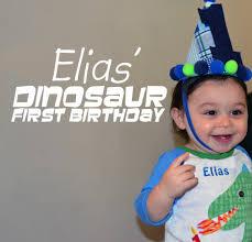 dinosaur first birthday party a slice of pie