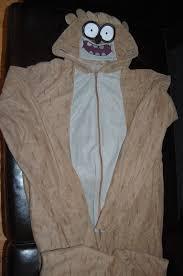 Rigby Halloween Costume Cartoon Network Regular Show Rigby Costume Pajamas 2xl
