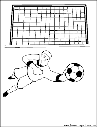 goalkeeper coloring page