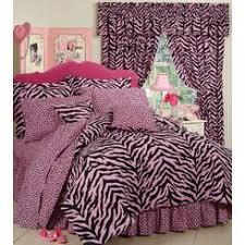 Pink Zebra Comforter Set Full Comforter With Matching Valance