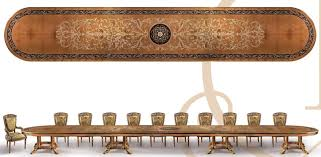 Western Conference Table Empire Style Dining Conference Table