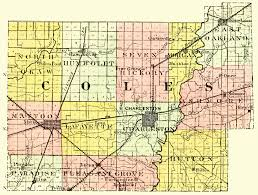 Map Of Counties In Illinois by History Of Coles County