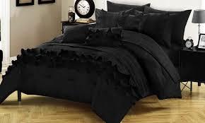 Ruffled Comforter Sahara Ruffled Comforter And Sheet Set 10 Piece Groupon
