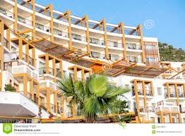 luxury hotel exterior in bodrum turkey stock image image 64679655