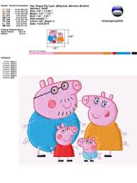 instant download machine embroidery design peppa pig fairy