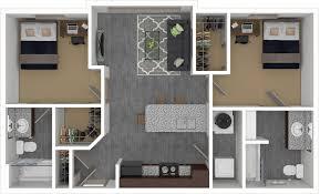 2 bedroom 2 bath floor plans floorplans the den columbia mizzou 2 4 bedroom apartments