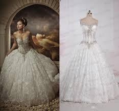 real image lace ball gown wedding dresses rhinestones