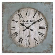 french blue cafe clock shabby chic