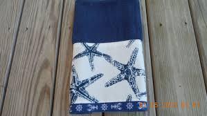 starfish towel towel navy starfish coastal decorative kitchen bath