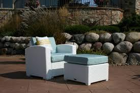 Patio Chair With Ottoman Brayden Studio Loggins Patio Chair With Cushion And Ottoman