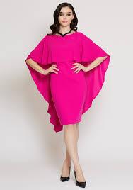 pink dress kate cooper cape overlay pencil dress hot pink mcelhinneys