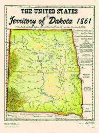 Map South Dakota United States Territories