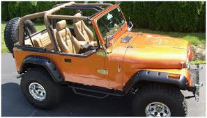 orange jeep cj jeep bushwacker