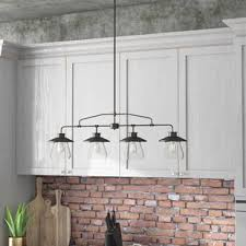 Matching Chandelier And Island Light Kitchen Island Lighting You Ll Wayfair