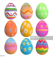 easter eggs in row stock photo getty images