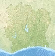 Ivory Coast Map Cote D U0027ivoire Relief Map U2022 Mapsof Net