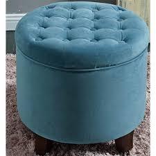 los feliz riverside large round button tufted storage ottoman