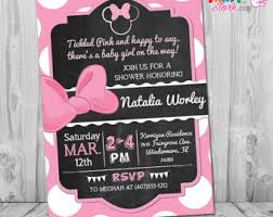 minnie mouse baby shower invitations diy por thepartystork