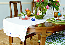 make your own table runner your own no sew table runner for easter