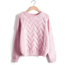 knitted sweater winter sweater fashion sleeve o neck twist chunky cable
