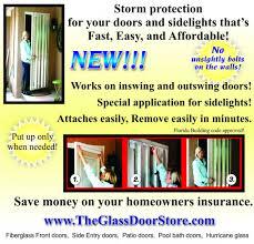 Hurricane Exterior Doors Hurricane Shutter Protection For Glass Doors