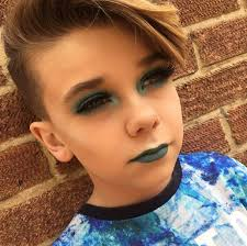 awesome haircuts for 11 year pld boys 10 year old becomes internet sensation for his awesome make up