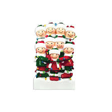 9 family tangled in lights family ornament personalized