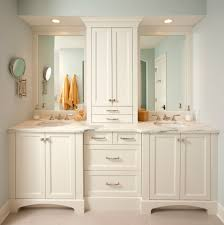 Tall Mirror Bathroom Cabinet by White Tall Bathroom Cabinet With Traditional Bathroom Mirror