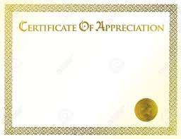 appreciation certificate template for employee templates