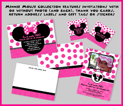 Mickey Mouse Invitation Card Minnie Mouse Birthday Invitation Cards Mickey And Minnie Mouse
