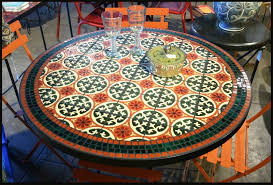 Mosaic Patio Table Top by Tile And Glass Mosaic Tables